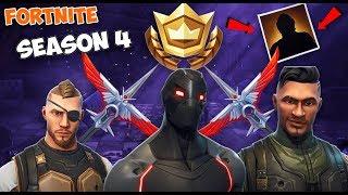 Fortnite SEASON 4 ALL BATTLE PASS REWARDS AND *SECRET SKIN* | (Fortnite: Battle Royale)
