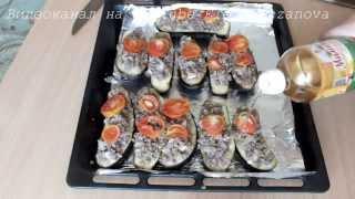 Фаршированные мясом Баклажаны, лодочки из баклажан   рецепт