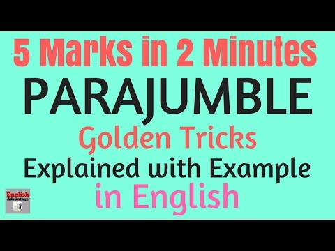 Parajumble golden tricks to get 5 marks in 2 minutes | in English