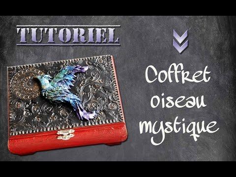Tuto fimo/polymère coffret oiseau mystique