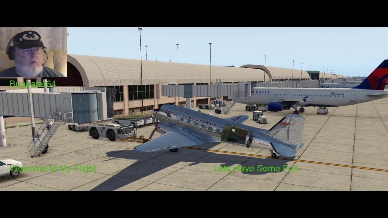 X-Plane 11- 25r2, AWX DC-3 Beta 2 5, Seattle to Portland 2Aug2018