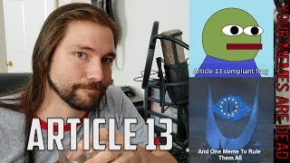 The End of The Internet (Article 13, Meme Ban) | Mike The Music Snob Reacts