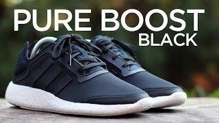 closer look adidas pure boost black