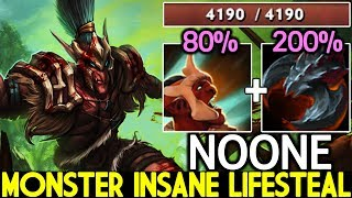 NOONE [Troll Warlord] Monster Unleashed Insane Lifesteal Super Mid 7.22 Dota 2