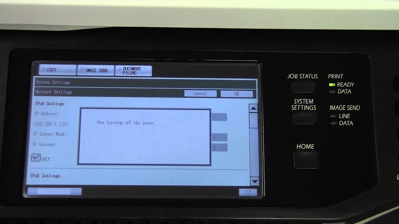 how to change printer to static ip