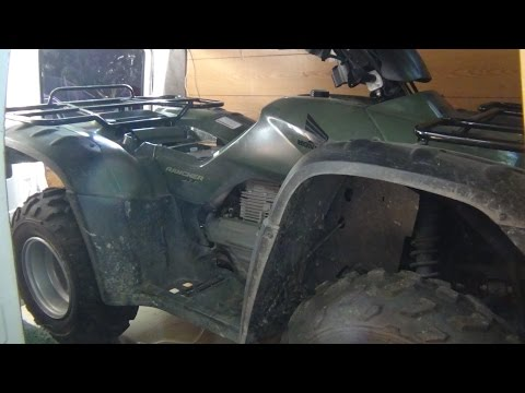 Draining Fuel Tank 2007 Honda Rancher ATV