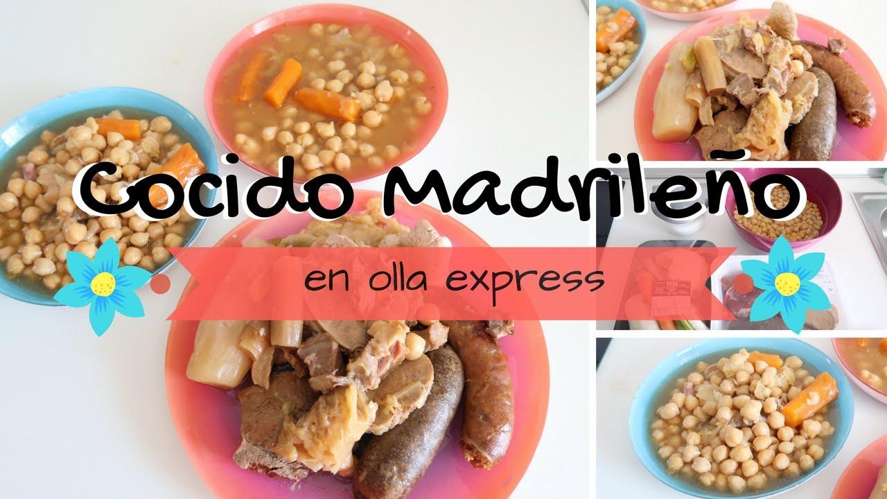 Cocido madrile o en olla express cocido madrile o para - Cocido en la olla express ...