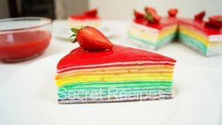 Радужный торт из блинчиков. Восхитительный блинный торт | Rainbow cake