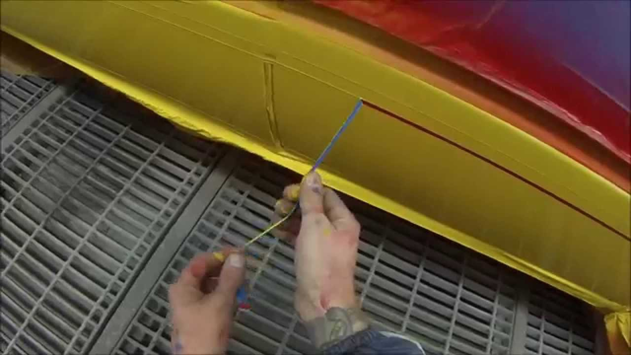 how to spray paint racing stripes on car body youtube. Black Bedroom Furniture Sets. Home Design Ideas