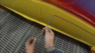 How to Spray Paint Racing Stripes on Car Body