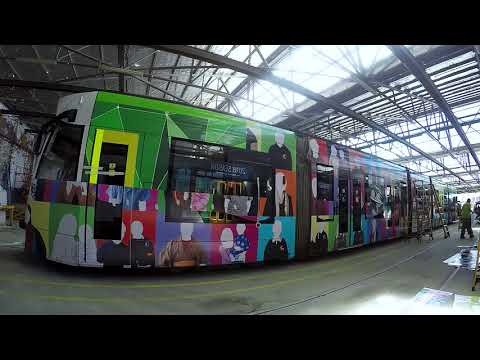 2017 Melbourne Art Trams - St Albans Community Art Tram