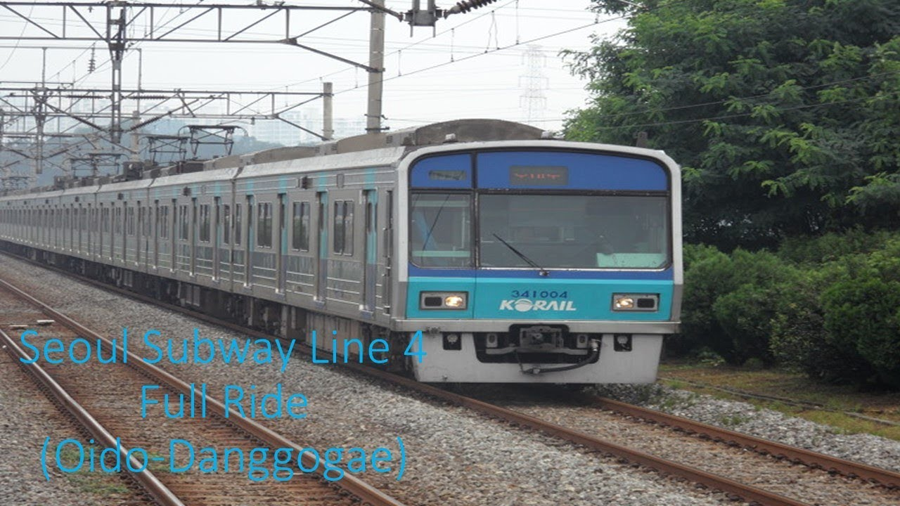 Seoul Subway Line 4 Full Ride (Oido-Danggogae) 수도권 전철 4호선 전구간 주행 (오이도-당고개)