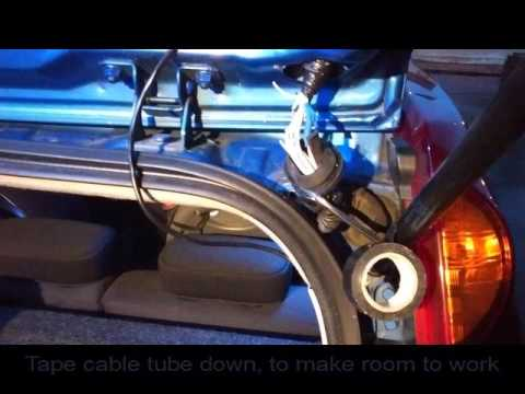 Nissan note rear wiper repair wiring loom  YouTube