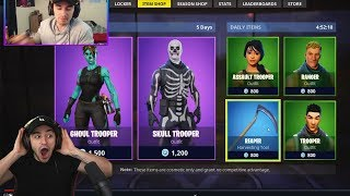 reacting to NOT BUYING the Ghoul Trooper in the Item Shop... (very sad)