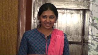 Actress Lakshmi Menon sharing her Kumki experience at Kumki Press Meet