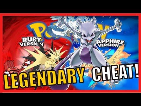 Pokemon ruby sapphire legendary cheat codes youtube - Pokemon saphir pokemon legendaire ...