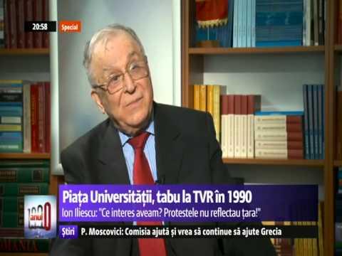 """Ion Iliescu - """"1990 - Anul 0"""", interviu de Elena Vijulie, Digi24"""