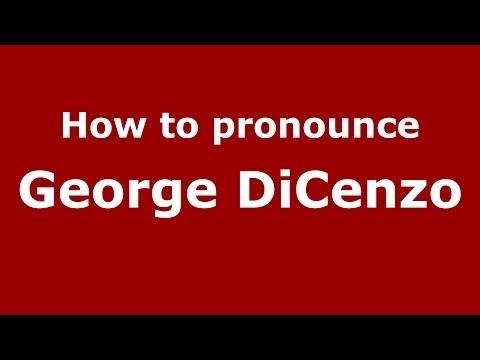 How to pronounce George DiCenzo American EnglishUS   PronounceNames.com