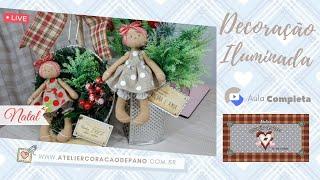 Faça Este Arranjo de Mesa e Parede Iluminados – Natal