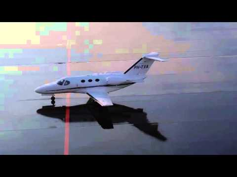 Cessna Citation Mustang (PH-TXA) |Takeoff Eindhoven Airport