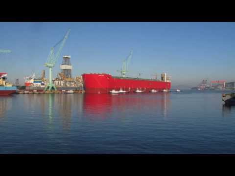 Prelude FLNG floats for the first time
