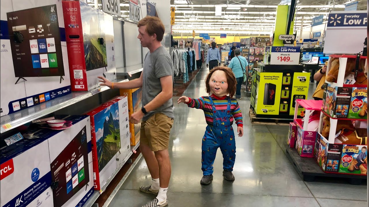 Scaring People In a Chucky Costume Someone Cried