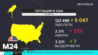 В США число заразившихся за день выросло почти на 20 тысяч - Москва 24