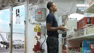 US Navy Sailors Shopping Insid…
