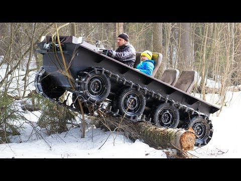 DIY tracked ATV $1000 cost! Hardest tests! - YouTube