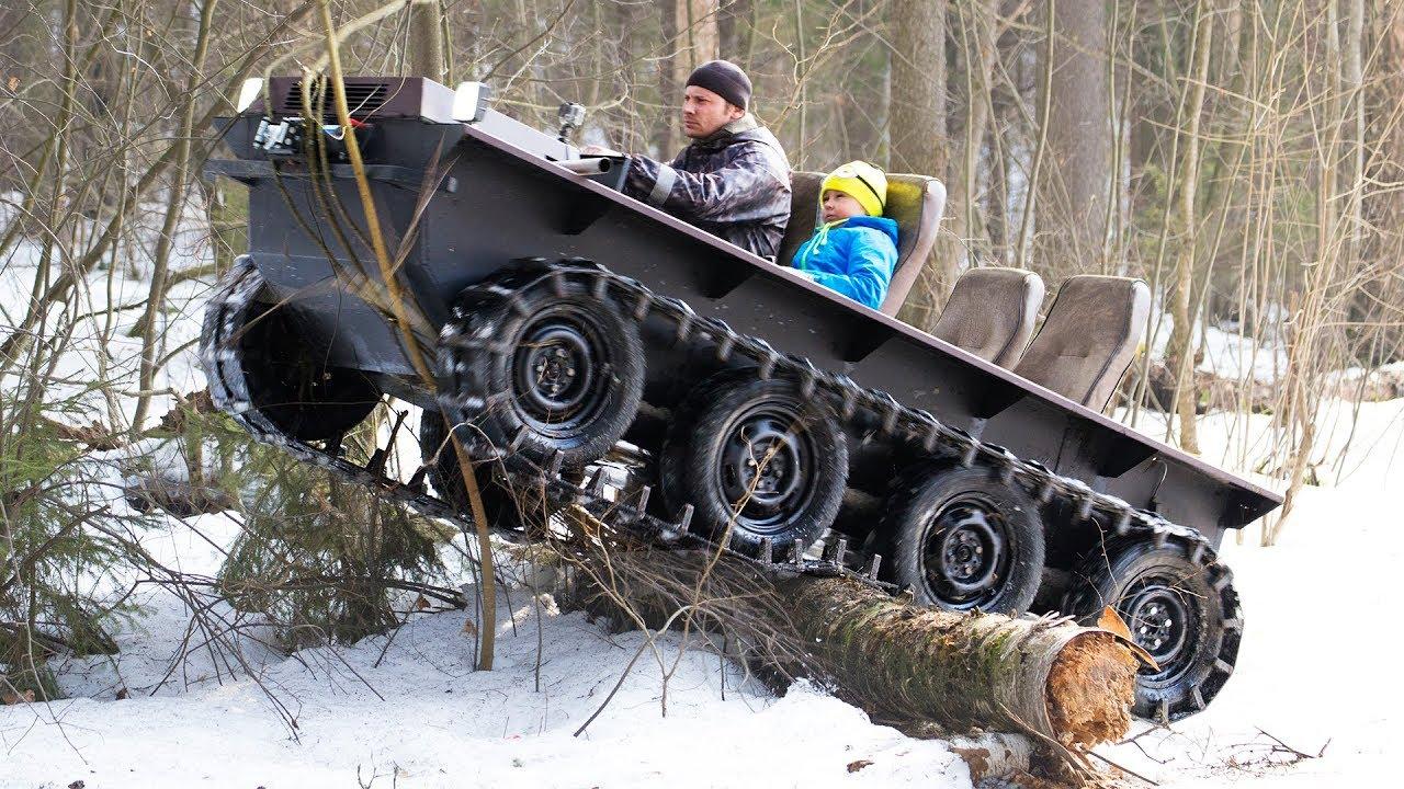 DIY tracked ATV $1000 cost! Hardest tests!