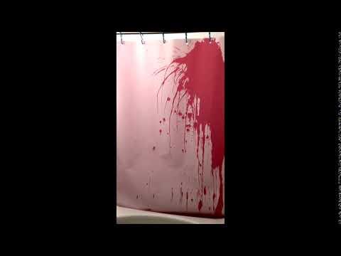 Bloody Shower Curtains Prank