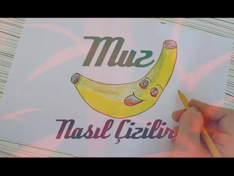 Muz Nasil Cizilir How To Draw Banana Youtube