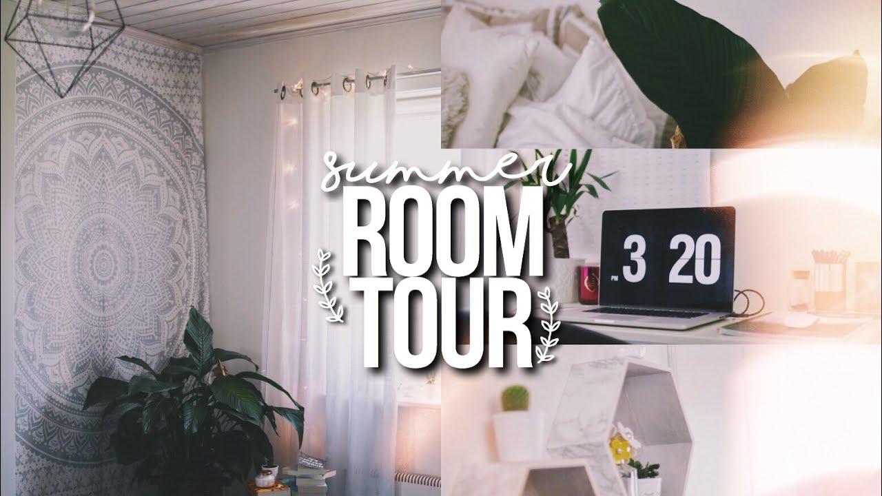 Aesthetic Tumblr Room Tour Summer 2017 Youtube