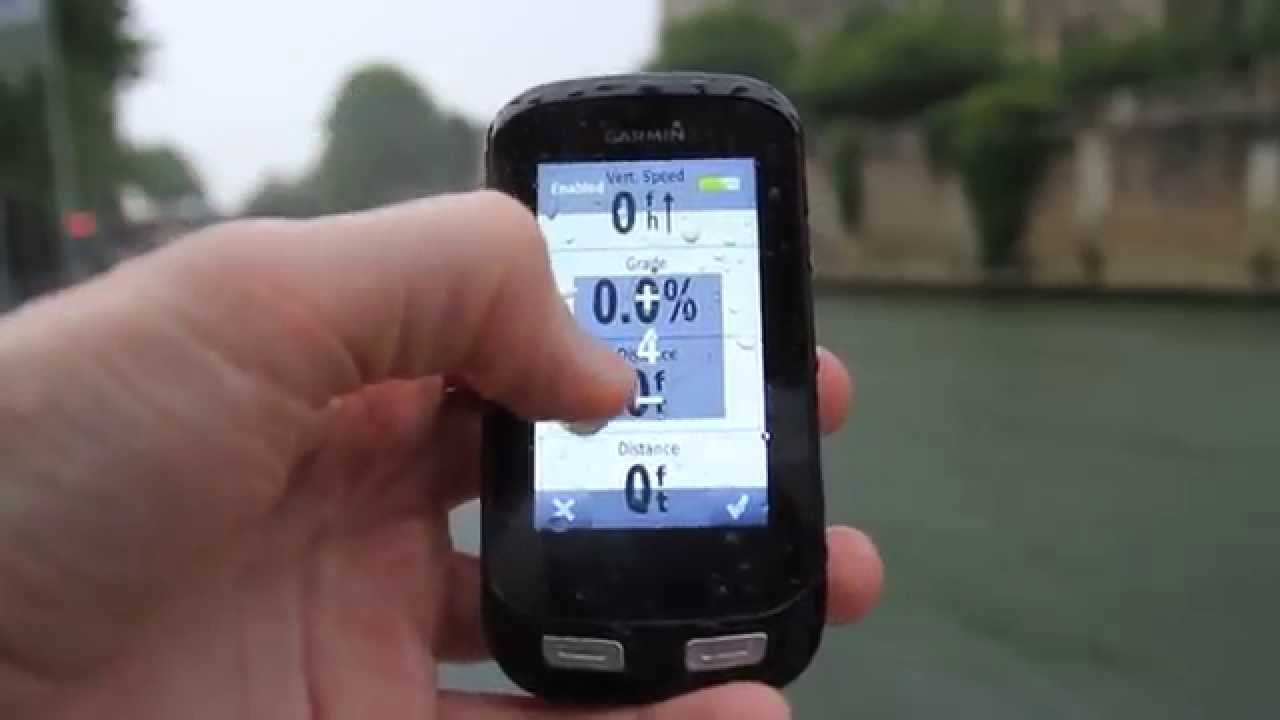 Garmin Edge 1000 Touch Screen in the rain