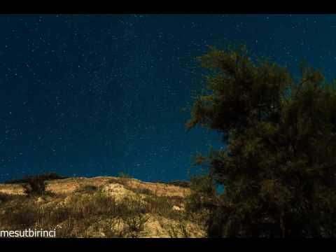 Starry Night Sky painted by Moonlight - Ayışığıyla boyanmış Yıldızlı Gece Gökyüzü Timelapse