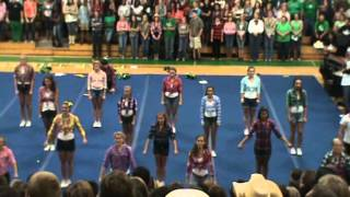 Choctaw High School Cheerleaders Country Pep Rally Oct 2012
