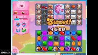 Candy Crush Level 1244 Audio Talkthrough, 2 Stars 0 Boosters