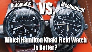 Hamilton Khaki Field Mechanical vs. Hamilton Khaki Field Auto!  Which Is Better?