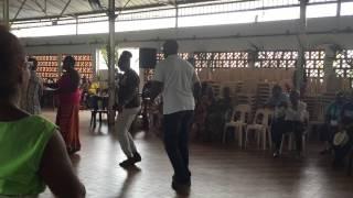 We Deh Yah Cultural Dancers - St Lucia/St Croix cultural exchange (Martinique - June 2015)