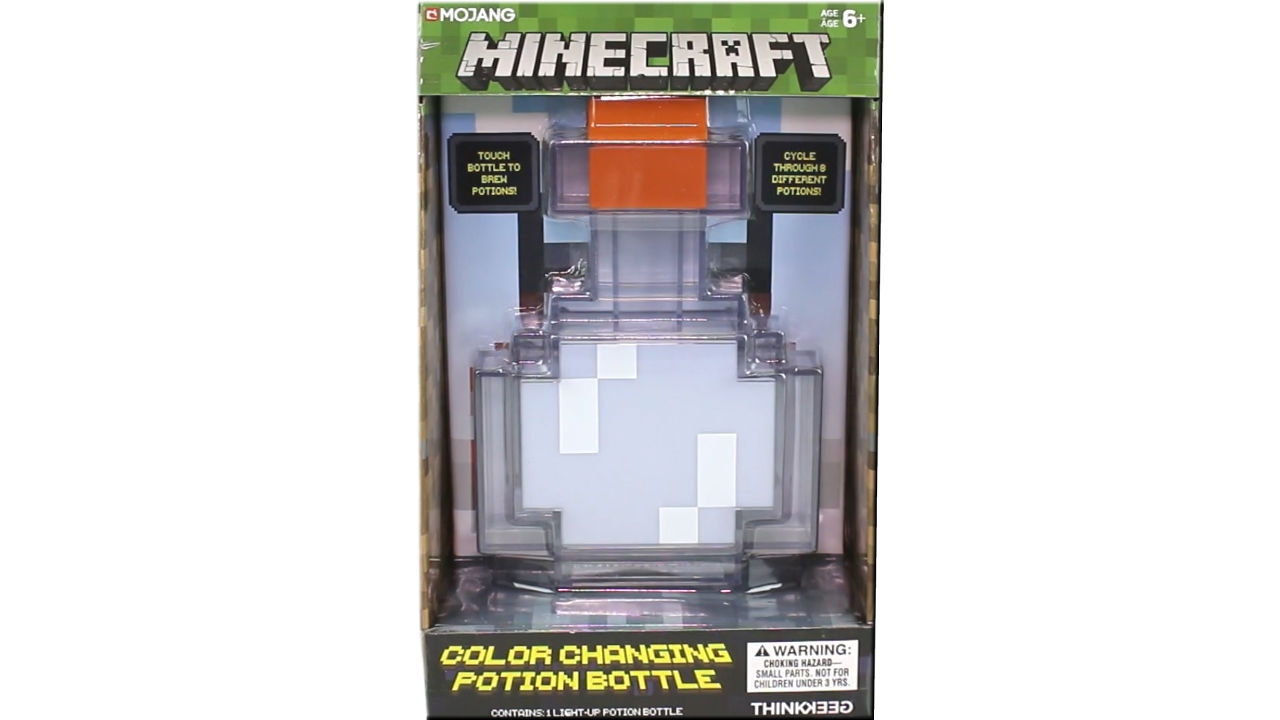 Minecraft Color Changing Potion Bottle Unboxing Review