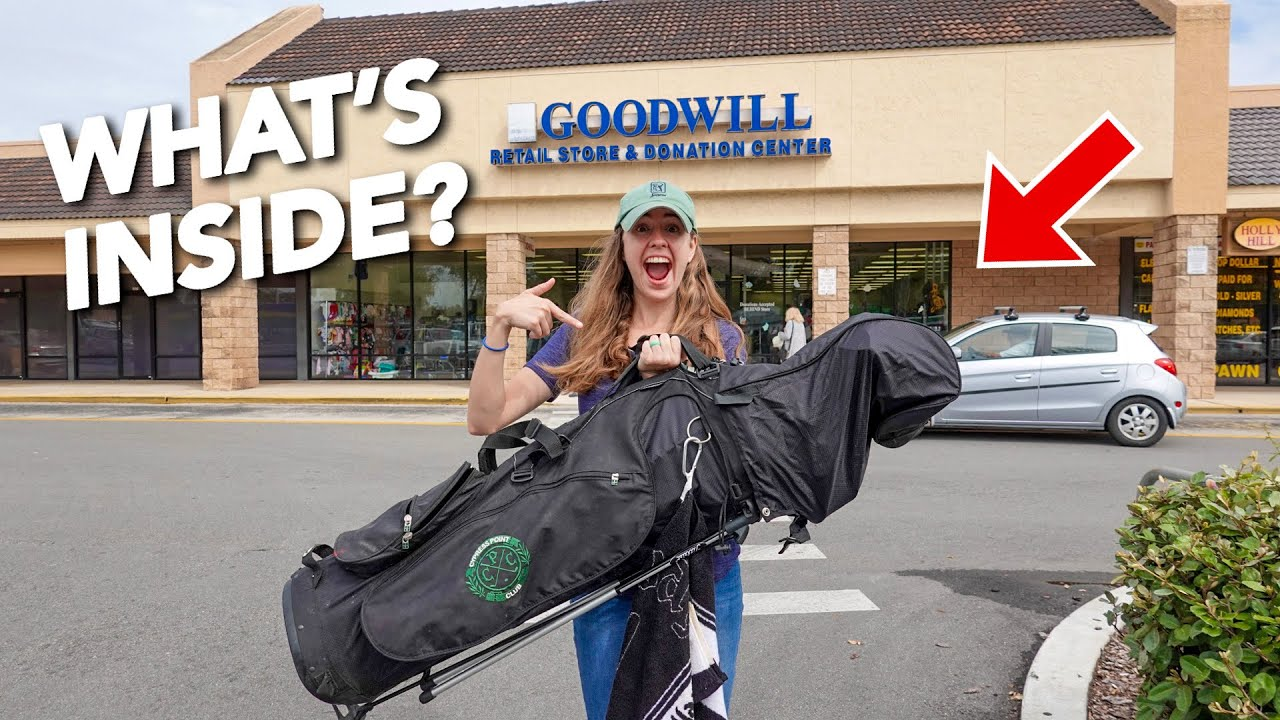 WE BOUGHT A $15 GOODWILL MYSTERY BAG FULL OF GOLF CLUBS