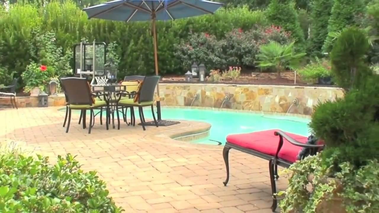 Cary nc luxury homes greyhawk landing outdoor living for Luxury outdoor living spaces