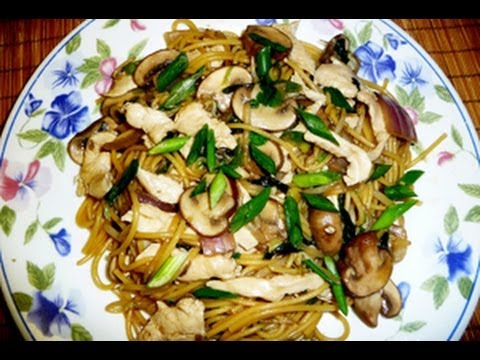 Chicken And Mushroom Asian-Style Noodles