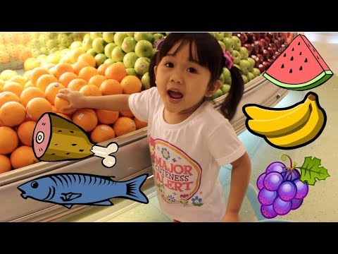 KID GROCERY Shopping with a Toy Cart by Rachel in Wonderland