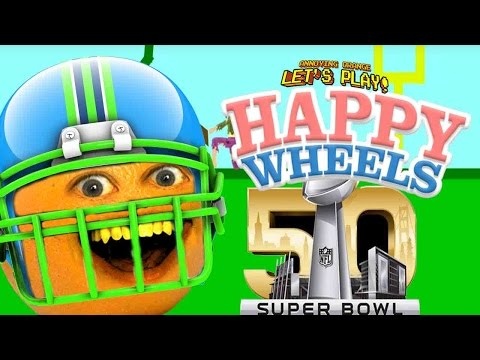 Annoying Orange Plays - Happy Wheels: SUPER BOWL!