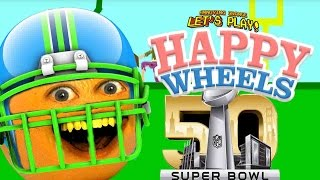 Annoying Orange Plays - Happy Wheels: SUPER BOWL!