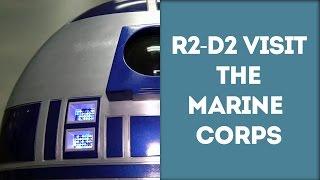 A Real Life R2-D2 Visits The Marine Corps Air Station Iwakuni