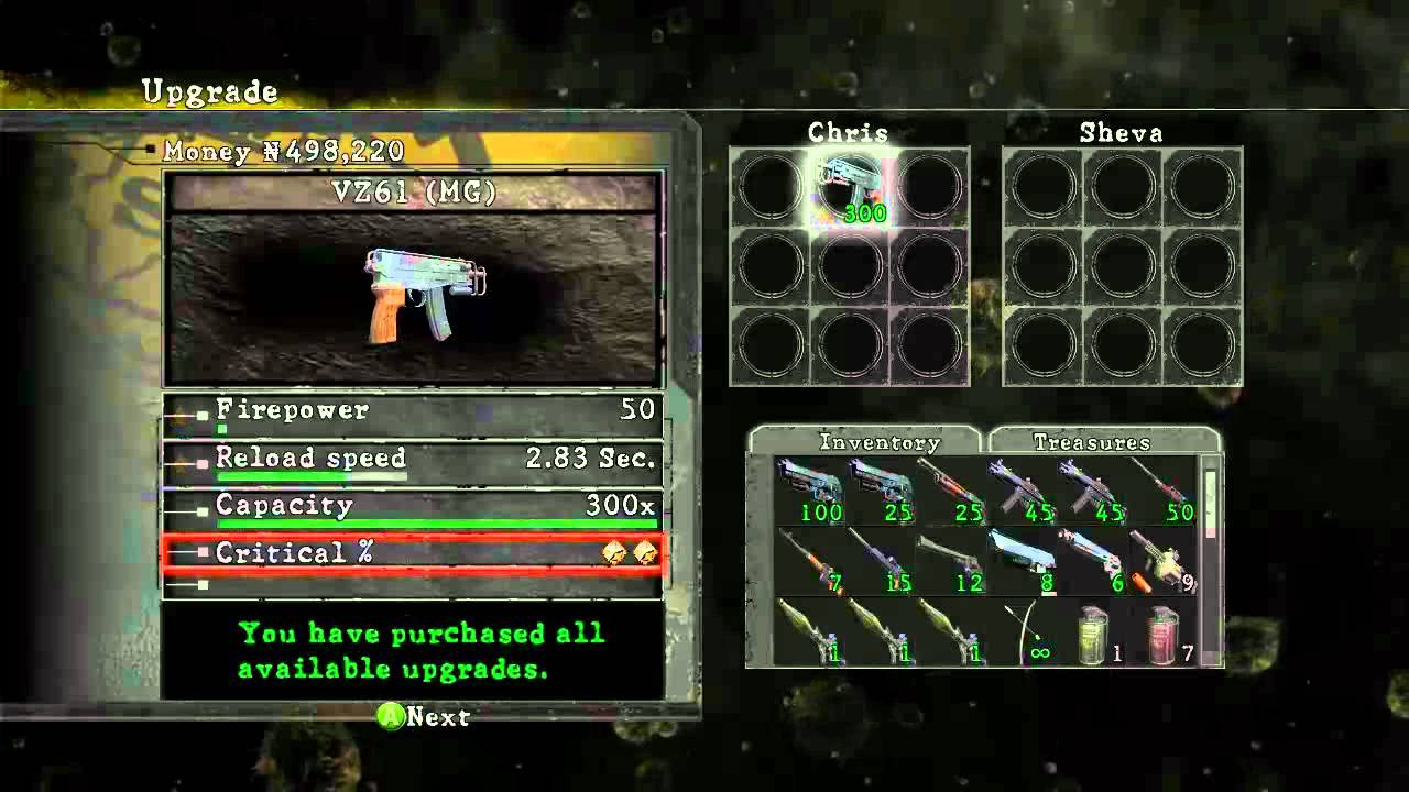 resident evil 5 pc unlock all weapons