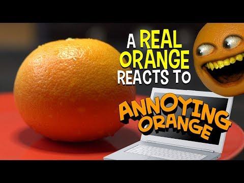 Real Orange Reacts to Annoying Orange! Saturday Supercut