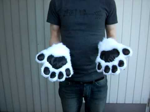 Animal paw gloves & Animal paw gloves - YouTube